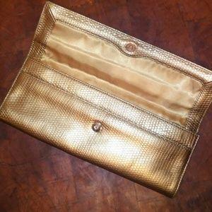 Ann Taylor leather clutch